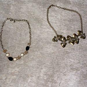 J. Crew 2 Gold Necklaces